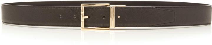 Bally Astor Black Leather Belt