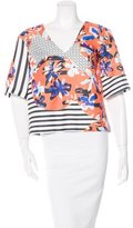 Clover Canyon Abstract Print Short Sleeve Top