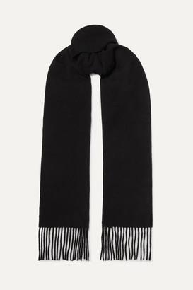 Acne Studios Fringed Wool Scarf - Black