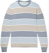 Etro - Striped Cotton And Cashmere-blend Sweater