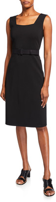 Lafayette 148 New York Monica Secco Stretch Sleeveless Belted Dress