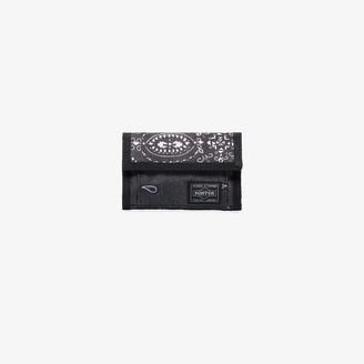Neighborhood X Porter-Yoshida & Co. black bandana print wallet
