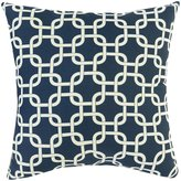 Majestic Home Goods Links Large Pillow, Navy Blue
