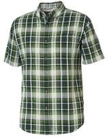Royal Robbins Men's Mid-Coast Seersucker Plaid Short Sleeve Shirt - Garden Short Sleeve Shirts