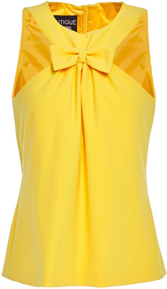 Boutique Moschino Bow-embellished Gathered Cady Top