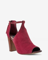 White House Black Market Red Suede Shootie