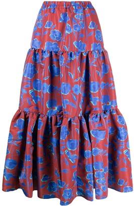 La DoubleJ Floral Print Big Skirt