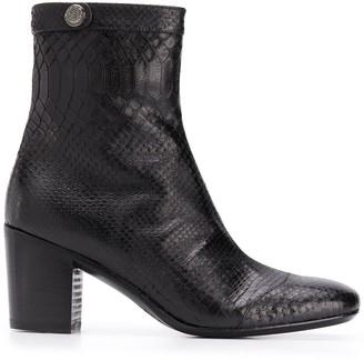Alberto Fasciani Amina snakeskin-effect boots