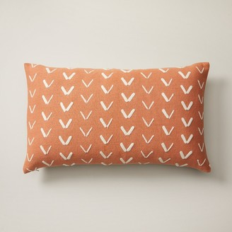 "Indigo Spur Pattern Sunset Pillow Cover 12"" X 21"""