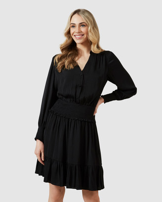French Connection Shirred Waist Mini Dress