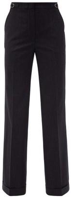 Gabriela Hearst Shipden Pinstriped Wool-blend Wide-leg Trousers - Navy White