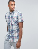 Blend of America Short Sleeve Slim Shirt Check