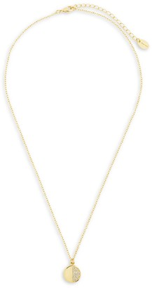 Sterling Forever Crystal Disc Pendant Necklace