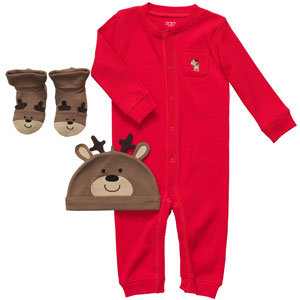 Carter's Newborn Reindeer 3PC Layette Set