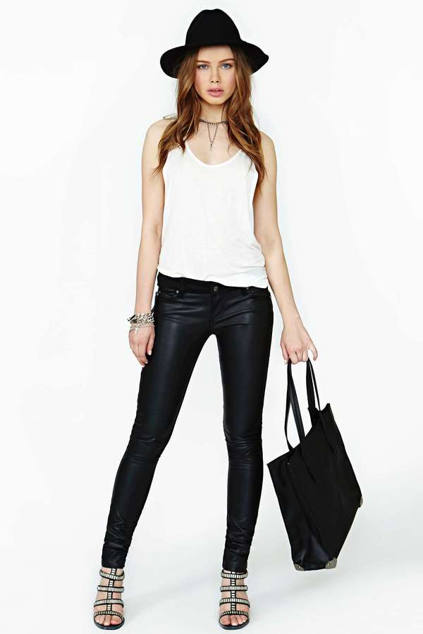 Nasty Gal Tripp NYC Dark Side Skinny Jeans