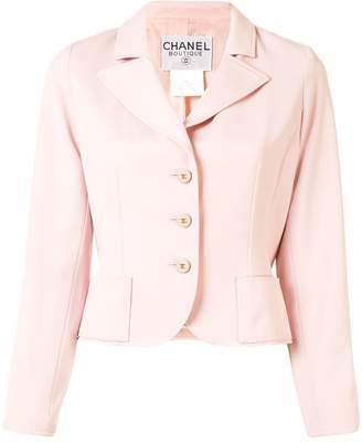 Chanel Pre Owned 1997 Slim-Fit Blazer Jacket
