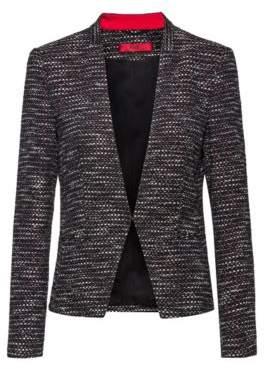 HUGO Regular-fit jacket in a structured cotton blend