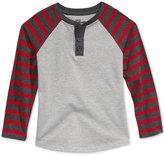 Epic Threads Boys' Red Stripe Henley Shirt