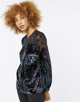 Monsoon Cosmic Paisley Devore Velvet Top