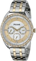 Pulsar Women's PP6180 Analog Display Japanese Quartz Two Tone Watch