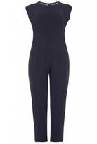 Quiz Curve Navy Crepe Lace Back Jumpsuit