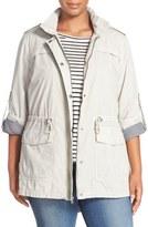 Levi's Parachute Hooded Cotton Utility Jacket (Plus Size)