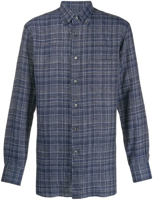 Brioni Tartan Print Shirt