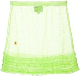 Walter Van Beirendonck Pre-Owned Frill-Trim Mini Skirt