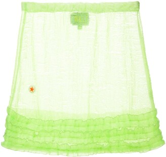 Walter Van Beirendonck Pre Owned Frill-Trim Mini Skirt