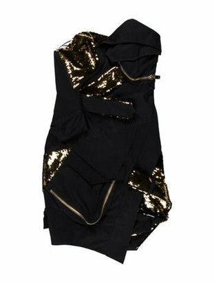 Alexandre Vauthier Strapless Mini Dress Blue