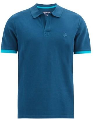 Vilebrequin Palan Logo-embroidered Cotton Polo Shirt - Blue