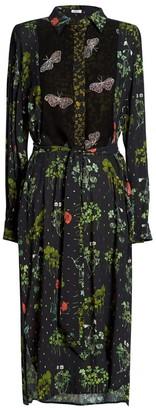 AILANTO Patchwork Shirt Dress