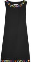 Moschino Embellished Crepe Mini Dress - Black