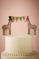 BHLDN Lovesome Giraffes Cake Topper