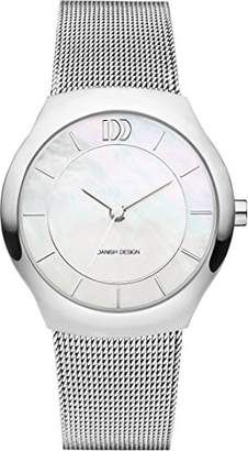 Danish Designs Danish Design Women's Quartz Watch with White Dial Analogue Display and Silver Stainless Steel Bangle DZ120517