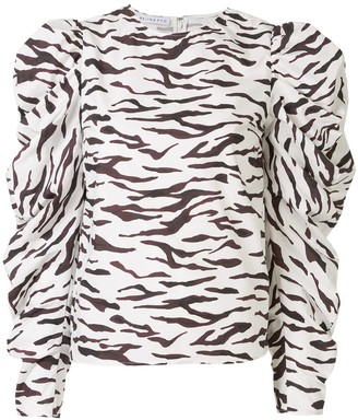 REJINA PYO Roberta animal-print blouse