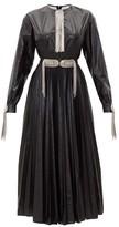 Christopher Kane Chain-plaque & Tassel Technical Shell Midi Dress - Womens - Black