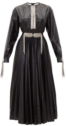 Christopher Kane Patent Chain-embellished Dress - Womens - Black