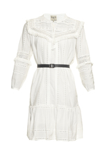 Sea Striped lace belted dress
