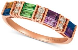 LeVian Le Vian Baguette Multi-Gemstone (3/4 ct. t.w.) & Nude Diamond (1/6 ct. t.w.) Ring in 14k Rose Gold