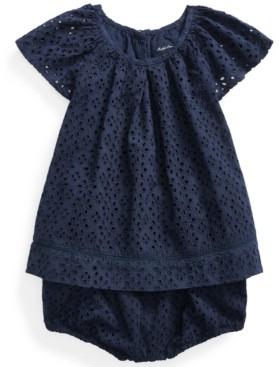 Polo Ralph Lauren Ralph Lauren Baby Girls Eyelet Top & Bloomer Set