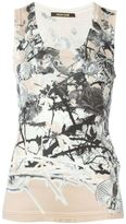 Roberto Cavalli printed tank top - women - Silk - 40