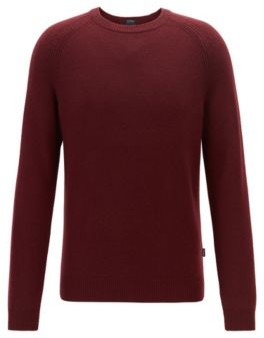 BOSS Regular-fit sweater in cashmere with crew neckline