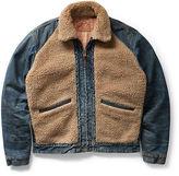 Ralph Lauren RRL Fleece-Paneled Denim Jacket