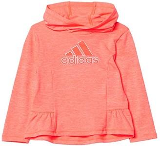 Adidas Originals Kids Poly Melange Hooded Tee (Toddler/Little Kids) (Bright Pink) Girl's Clothing