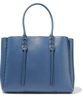 Lanvin Small Shopper Fringed Studded Leather Tote