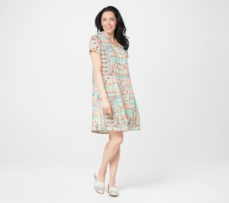 Tolani Collection Petite Collared Shirt Dress