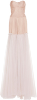 Maria Lucia Hohan Fotia Strapless Contrast Gown