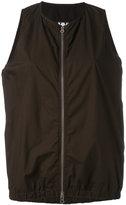 Labo Art - zip-up lightweight gilet - women - Cotton - 2