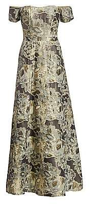Rene Ruiz Collection Women's Tiered Fil Coupe Embellished Off-The-Shoulder Gown